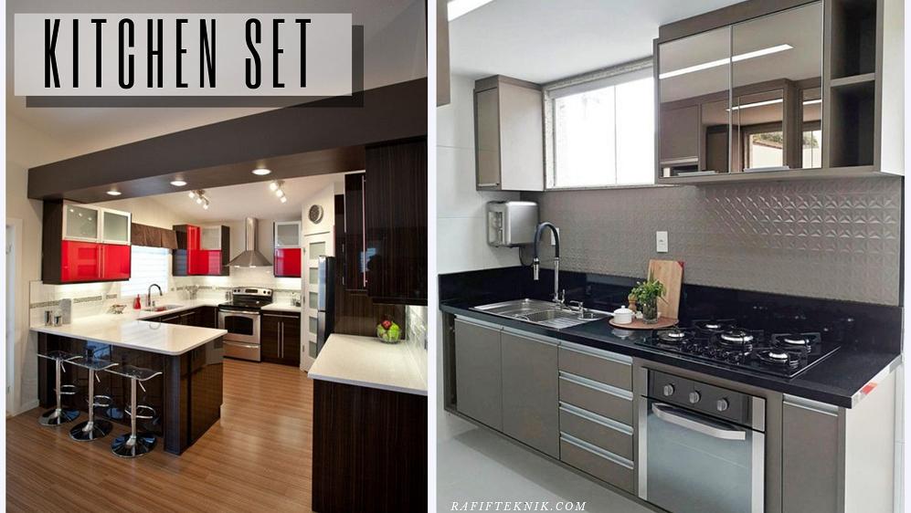Jasa Kitchen Set Multiplek Aluminium Desain Classic