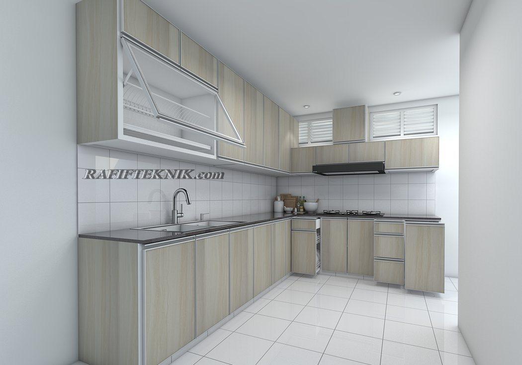 Harga Kitchen Set Aluminium Per Meter 2021 Terbaru Model Desain 3d