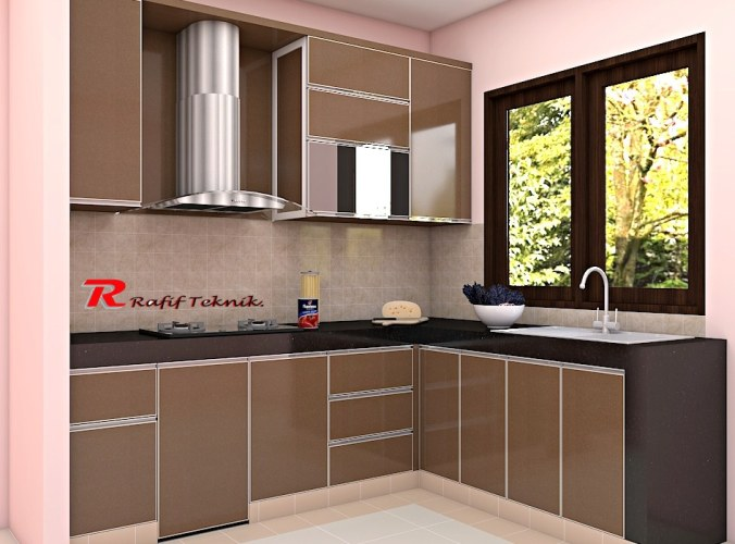 Kitchen Set Aluminium 100 Full Aluminium Model Premium Luxury