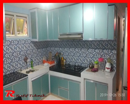 Harga Per meter Kitchen Set Aluminium di Bekasi